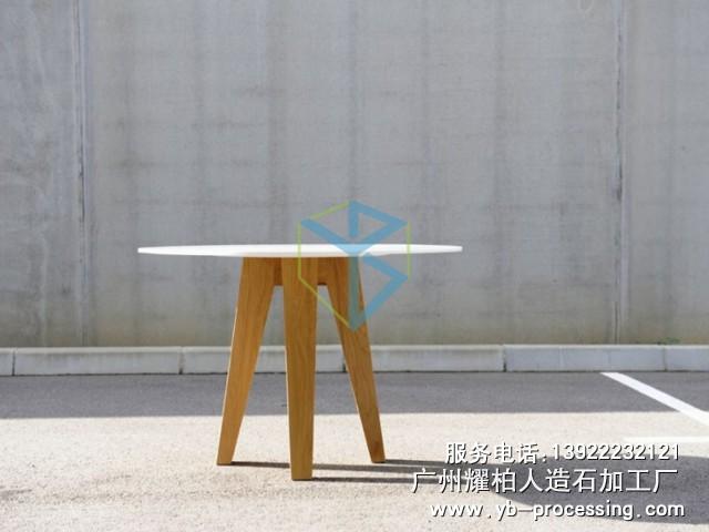 人造石桌子 LG人造石三角架设计