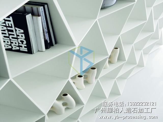 LG人造石书柜 异型书架 人造石书架 简约时尚