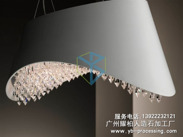 人造石艺术灯具 LG人造石灯具 高贵典雅
