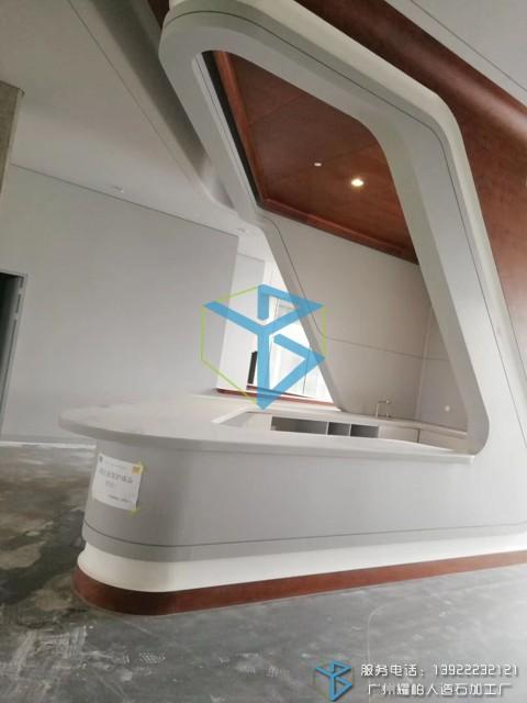 定制设计人造石接待台